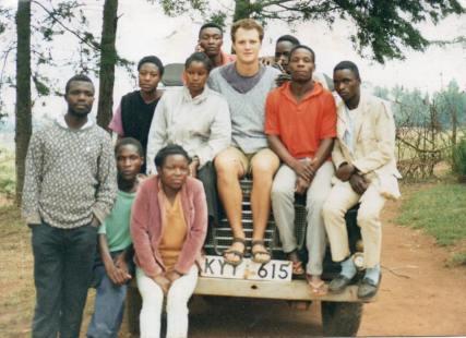 Sam and the original KCWCG crew in 1994
