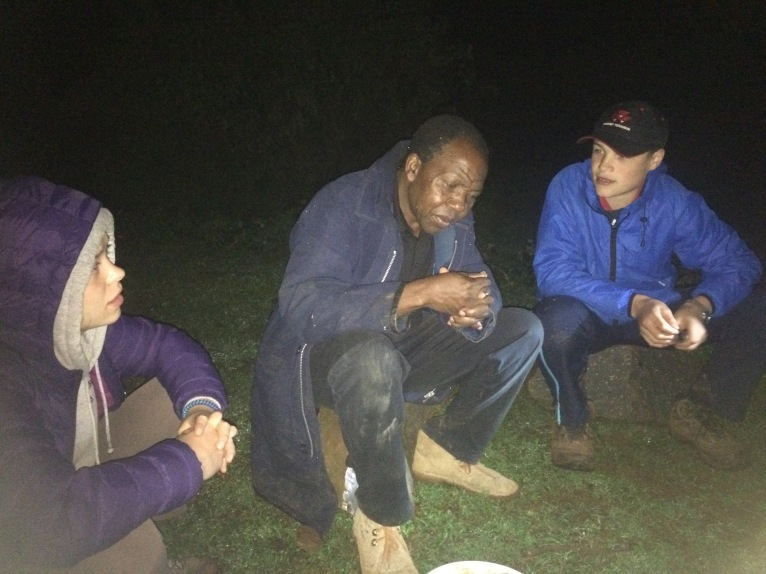 Maurice in conversation with BCS team members