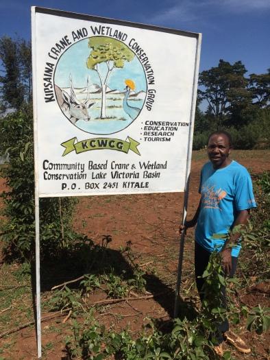 Maurice with KCWCG sign